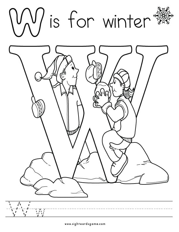 w coloring pages - photo #22