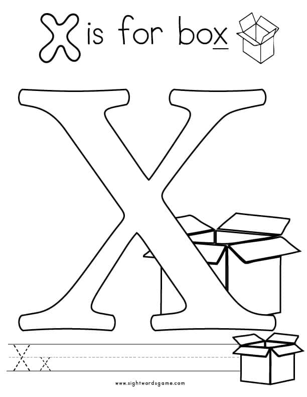 Letter-X-Coloring-Page-2