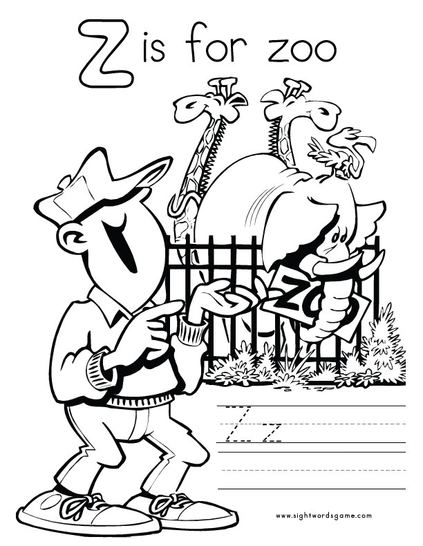 z word coloring pages - photo #8