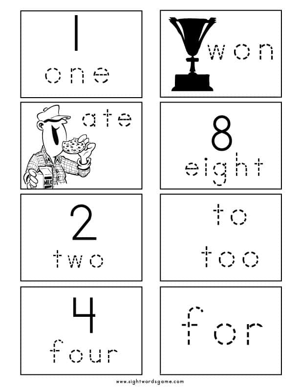 Homophone-Numbers-Flashcard