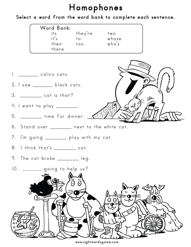 Homophones - Sight Words, Reading, Writing, Spelling ...