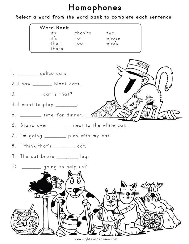 2 free  3rd worksheets grade Worksheet sight word Homophone