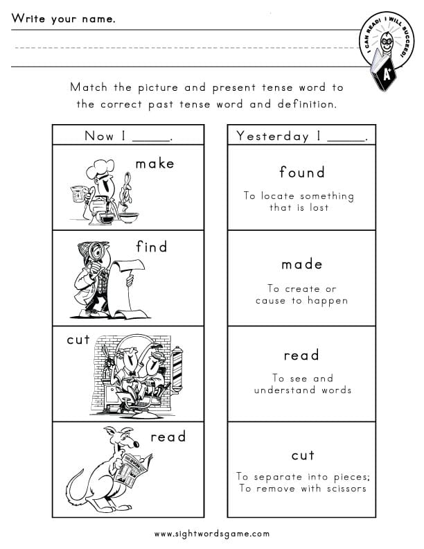 Common Irregular Verbs – Verb Worksheets 2nd Grade