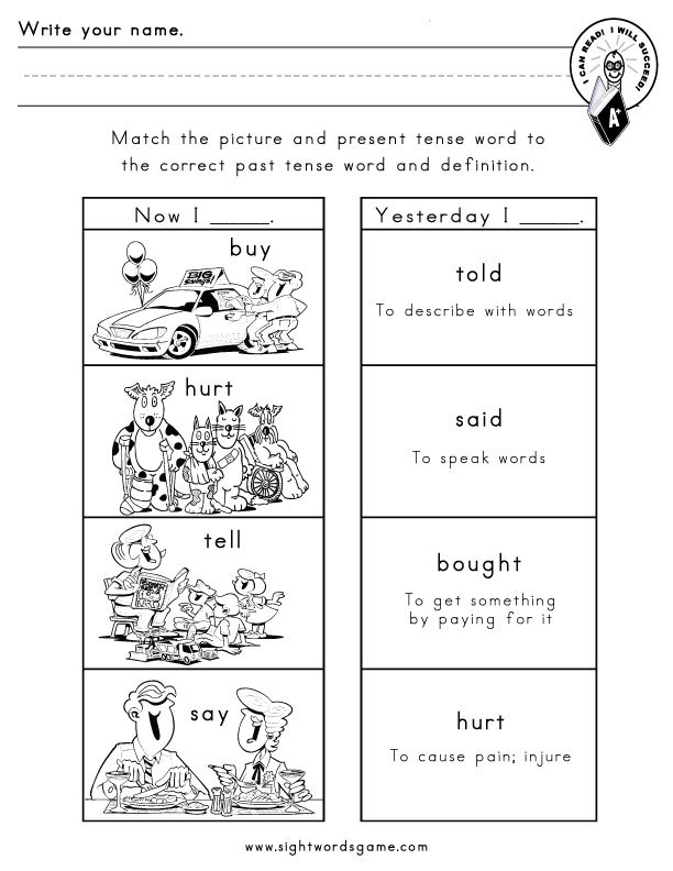 present tense of bought