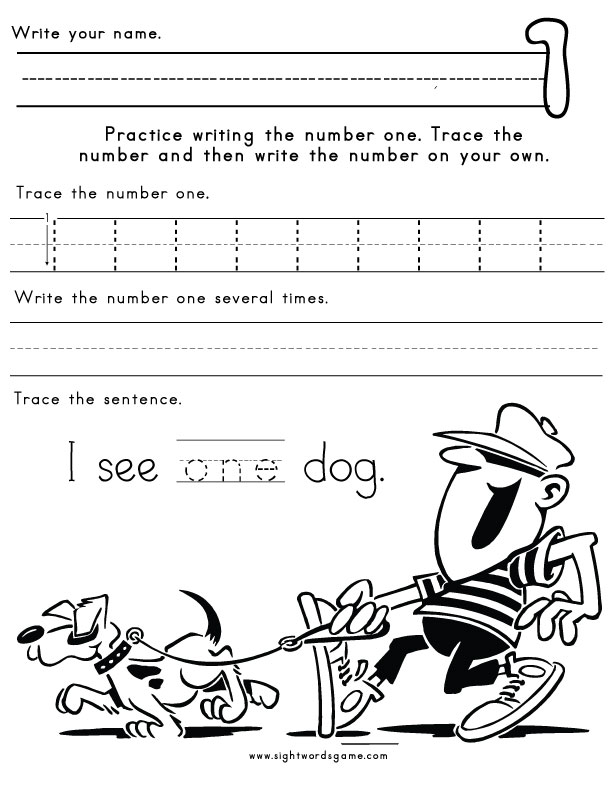 Number-One-Worksheet-1