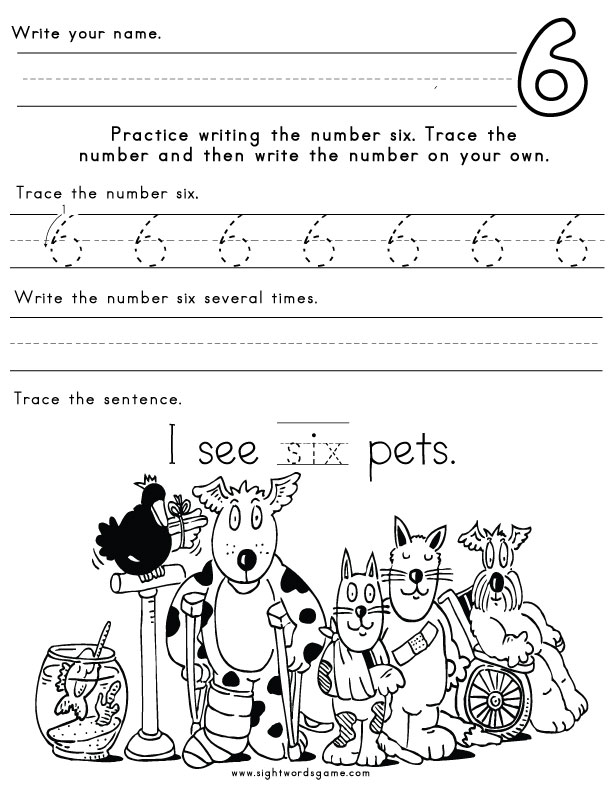 Number-Six-Worksheet-1