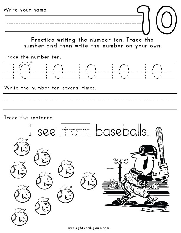 Number-Ten-Worksheet-1