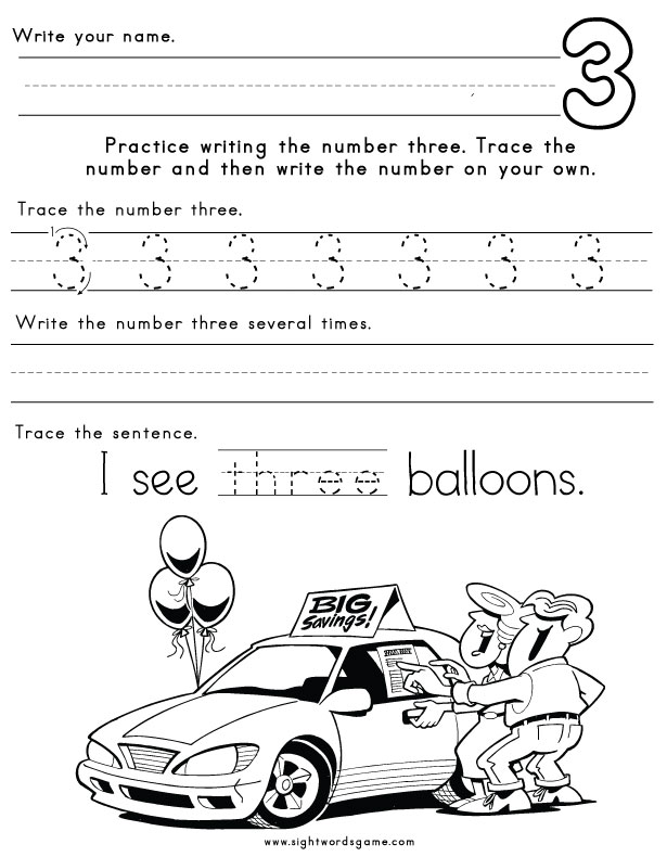 Number-Three-Worksheet-1