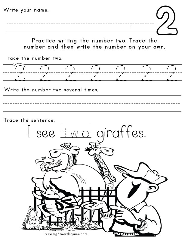 Number-Two-Worksheet-1