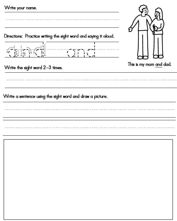 This is a graphic of Terrible Sight Word Worksheets Free