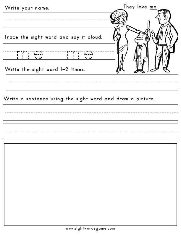 worksheet sight  Sight word Worksheets Words Printable said Free