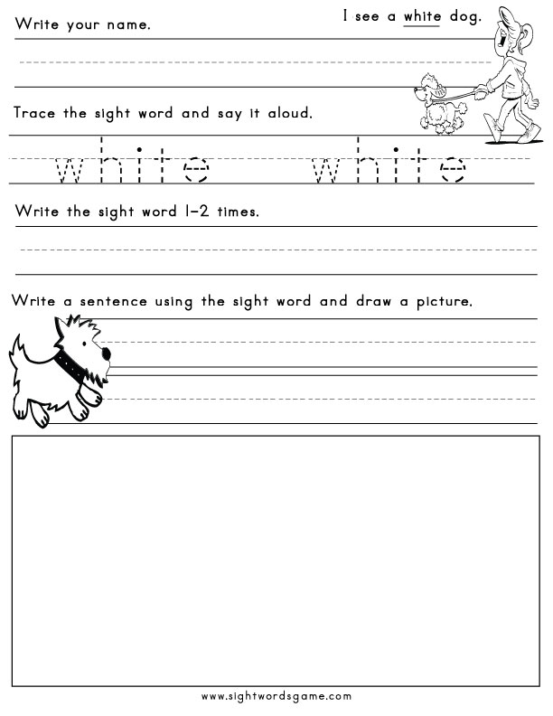 common colors - Free Color Word Worksheets