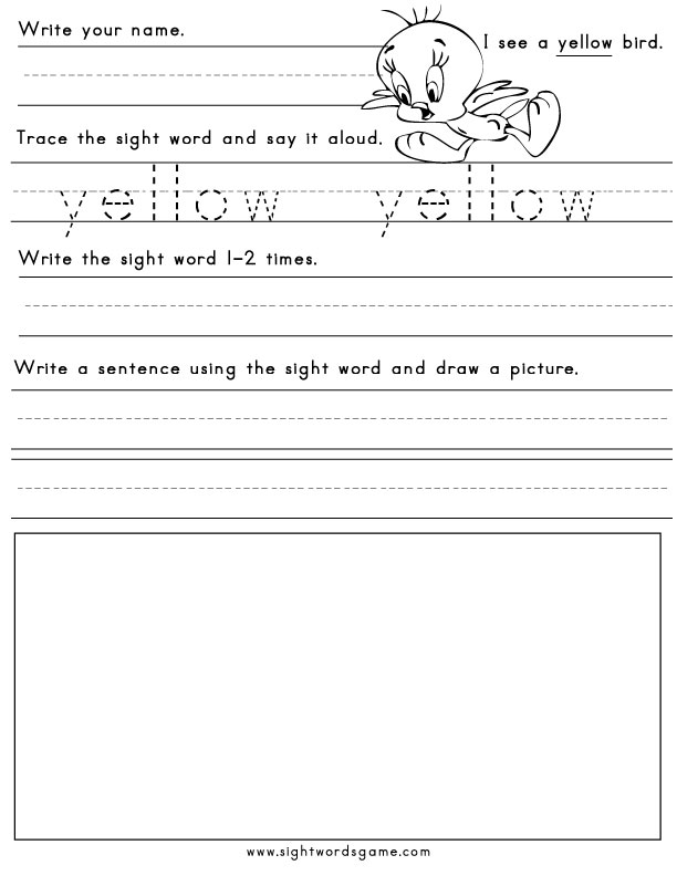 Color Word Worksheet Free Worksheets Library
