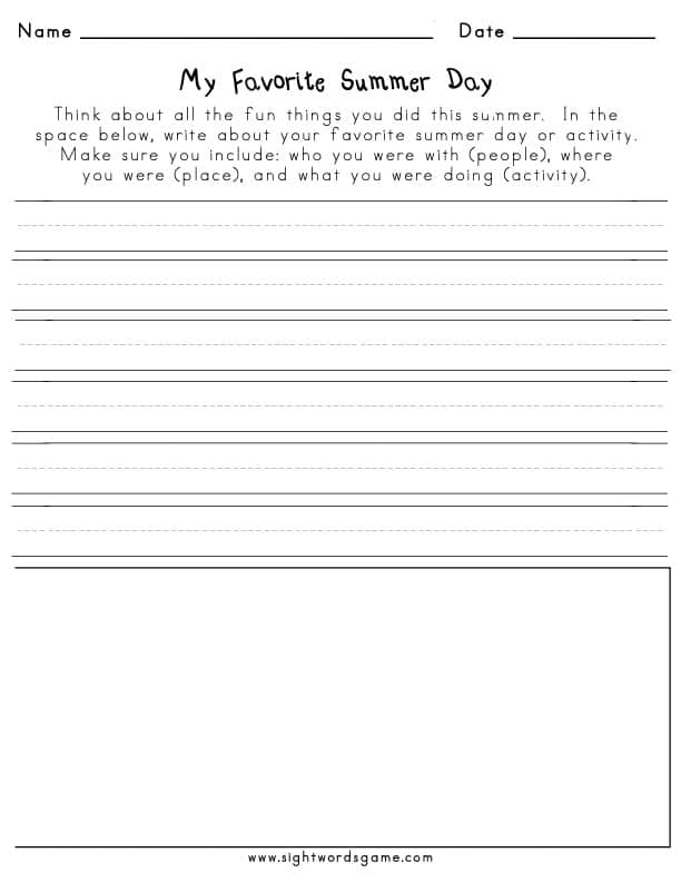 photograph about All Summer in a Day Worksheet called Again towards College or university