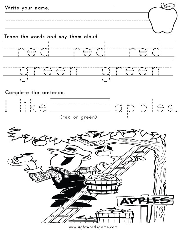 Color Worksheets – Color Words Worksheets