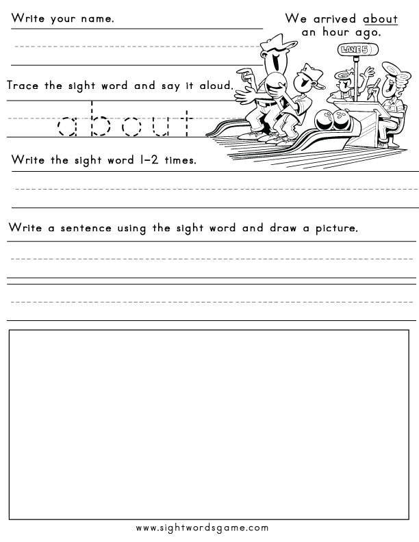 Printable sight word worksheets about ibookread ePUb