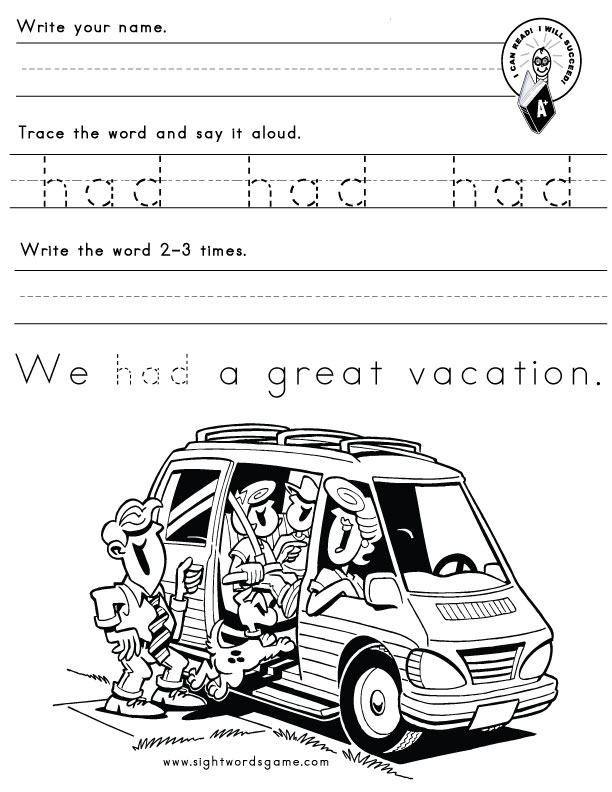 play worksheet sight Sight Word  for Do word Worksheet