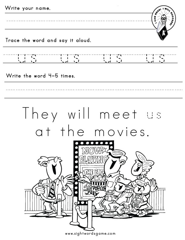 US Word Family – Free Word Family Worksheets